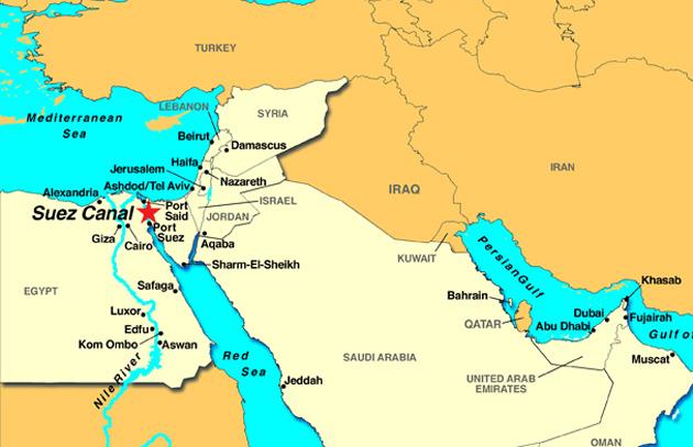 canal suez mapa Al igual que Panamá, Egipto ampliará Canal de Suez canal suez mapa