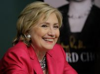 """NEW YORK, NY - JUNE 10:  Former US Secretary of State Hillary Rodham Clinton  promotes """"Hard Choices"""" at Barnes & Noble Union Square on June 10, 2014 in New York City.  (Photo by John Lamparski/WireImage)"""