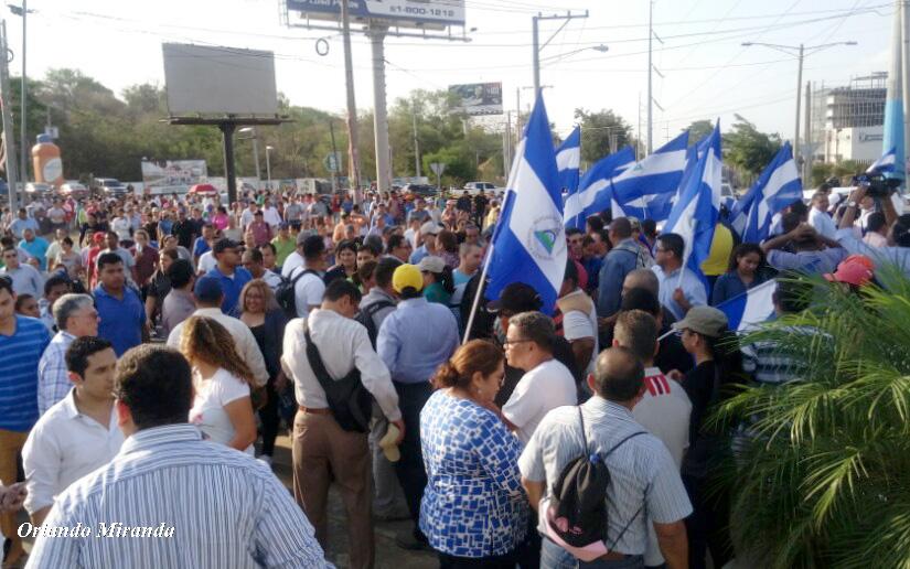 Policía antimotines impide marcha de jóvenes — Nicaragua