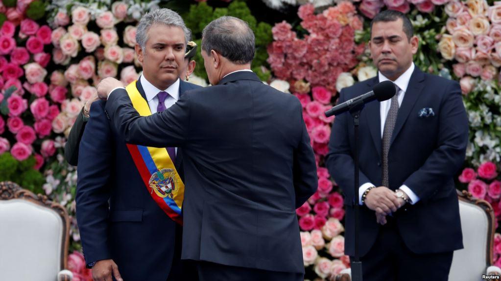 Iván Duque jura como presidente de Colombia y anuncia reformas